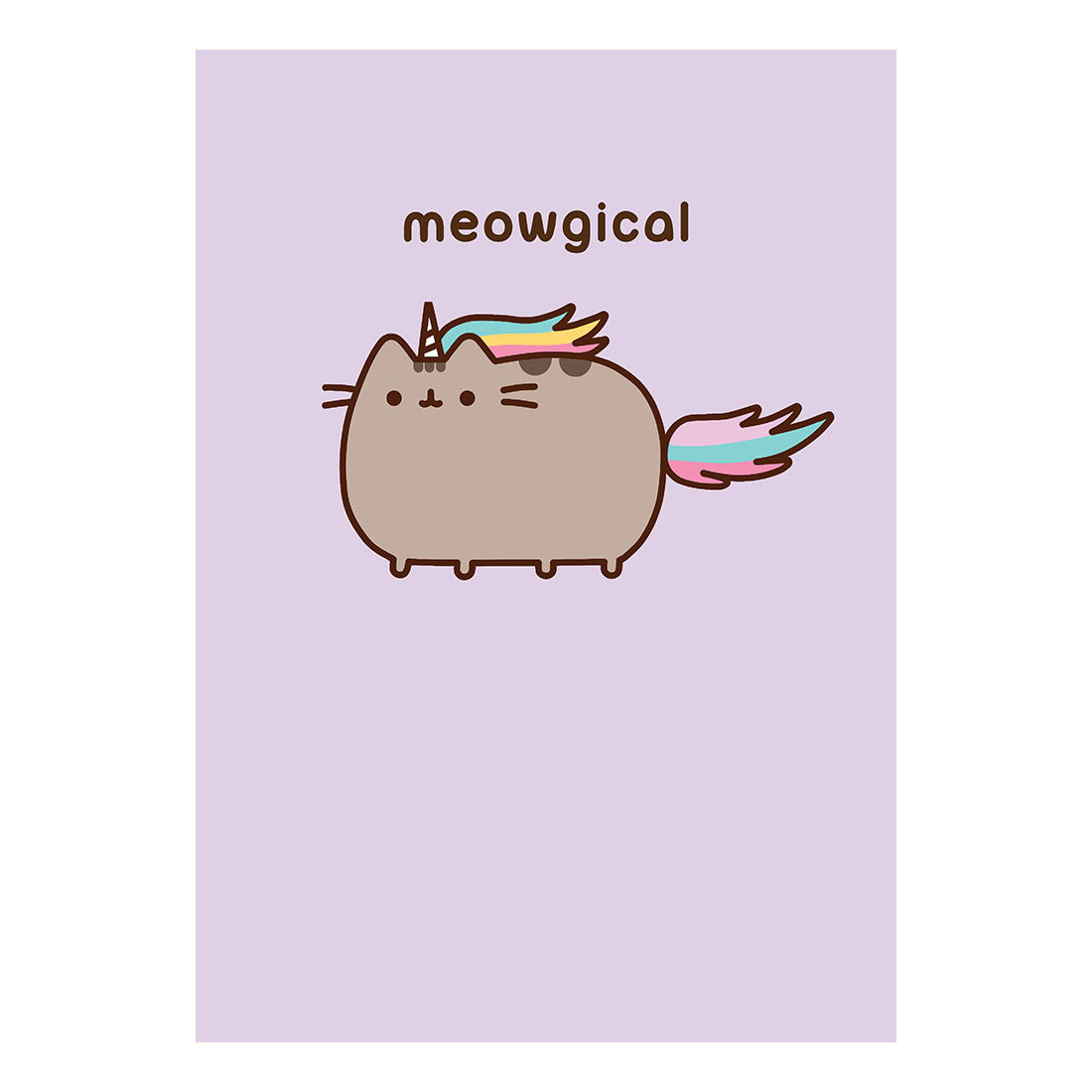 Pusheen Meowgical Greeting Card Gift Blank Pussy Cat Kitten Birthday