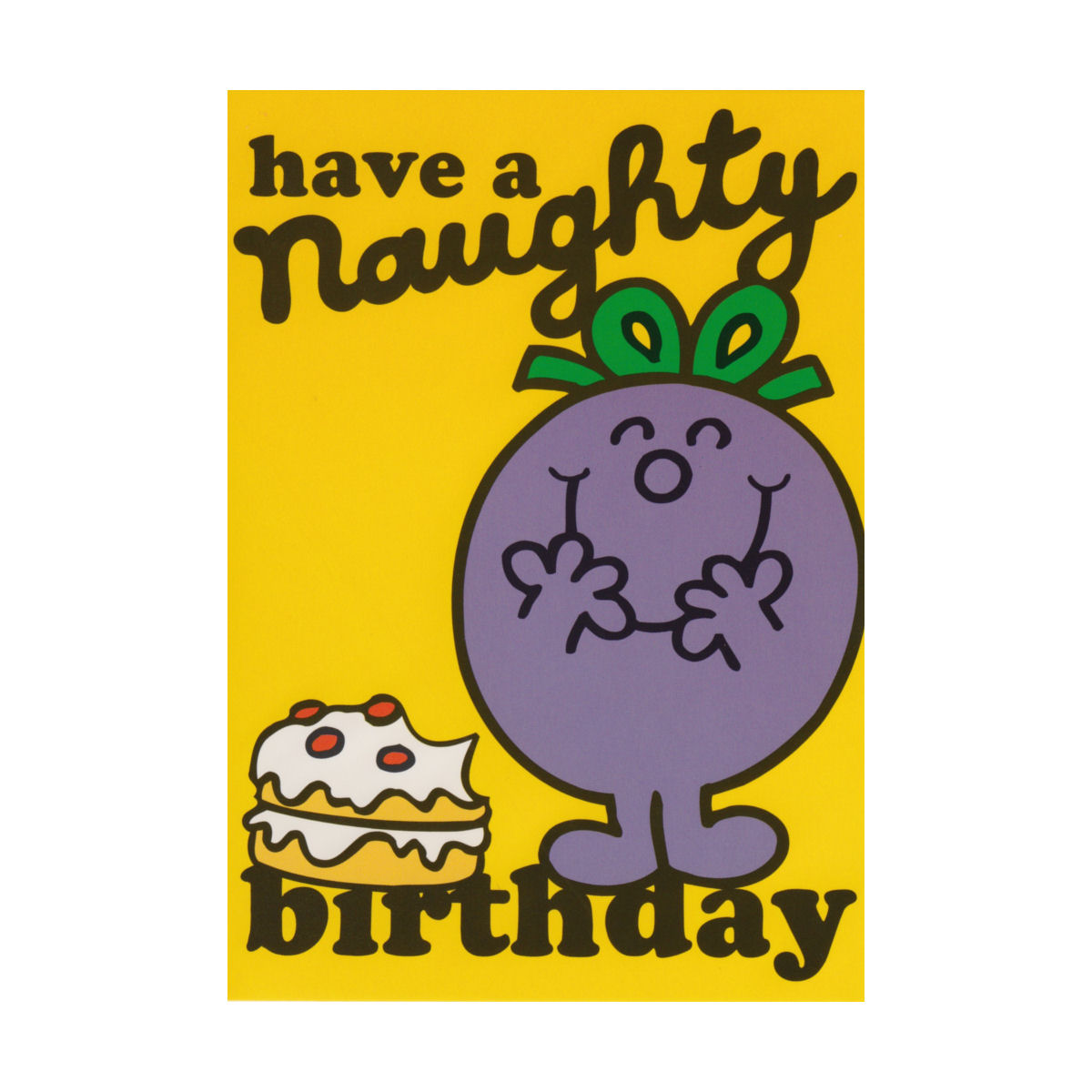 Little Miss Have A Naughty Birthday Greeting Card Retro Blank Gift