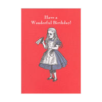 "Alice in Wonderland ""Have a Wonderful Birthday!"" Greeting Card"