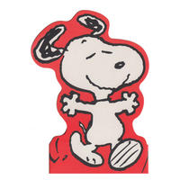 Snoopy Arms Open Wide Shaped Greeting Card