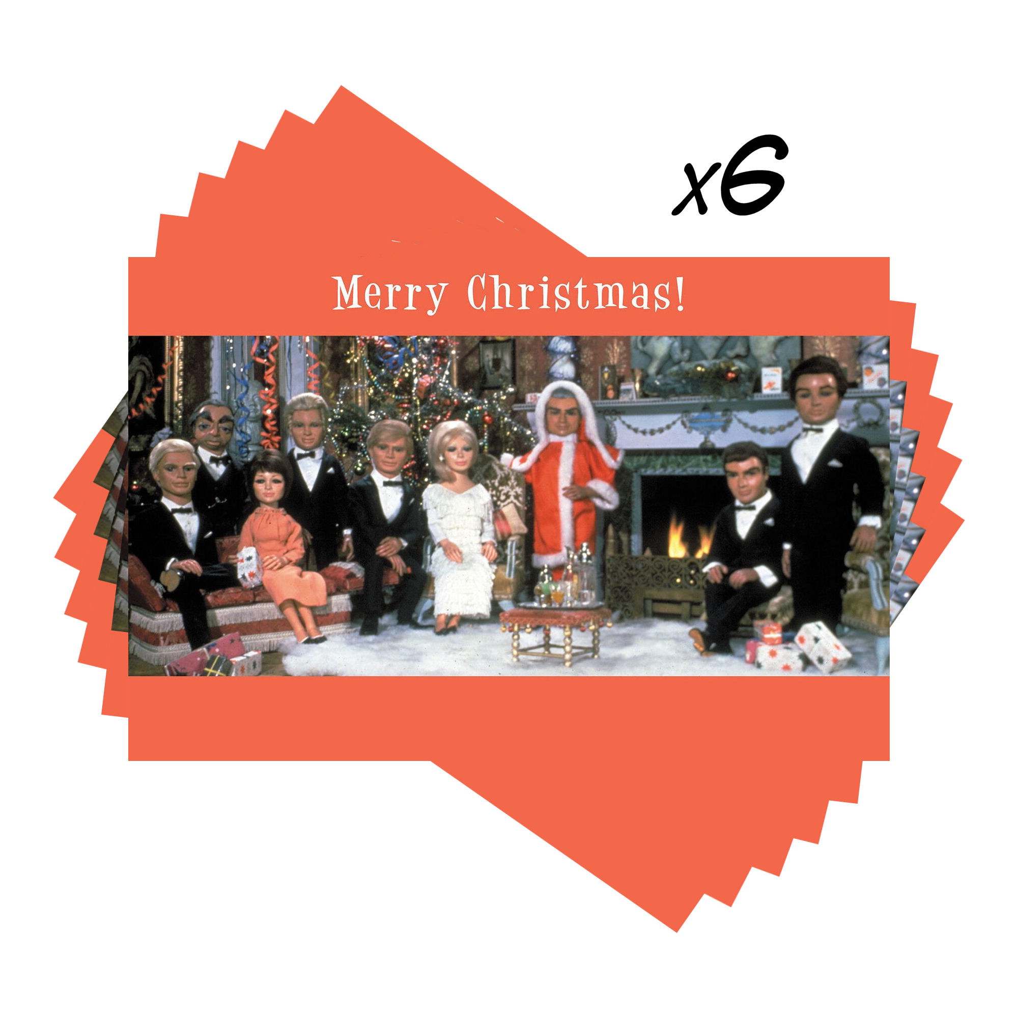 Pack of 6 Thunderbirds Mini Christmas Cards