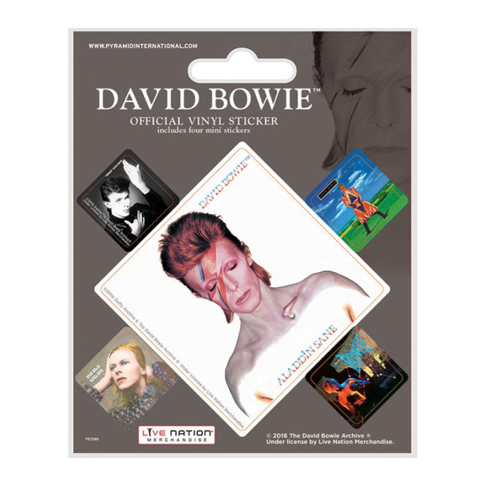 David Bowie Album Covers Sheet of 5 Vinyl Stickers