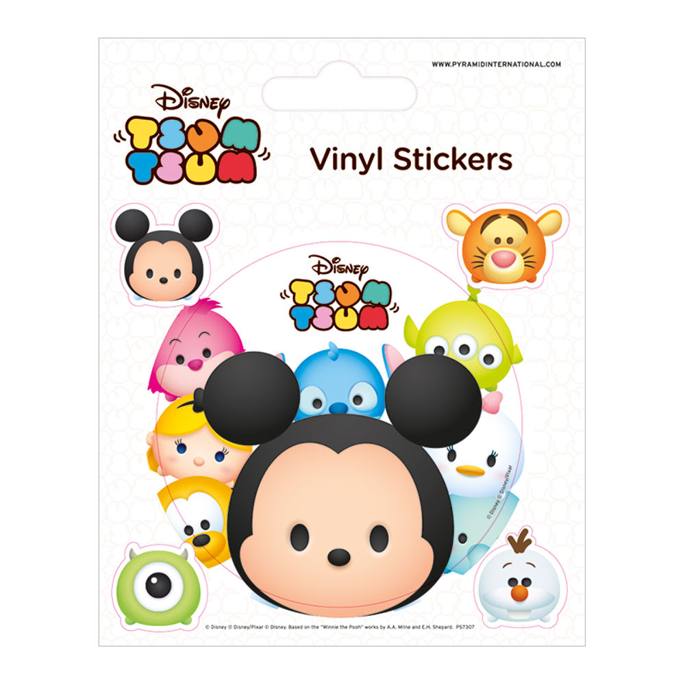 Disney Tsum Tsum Sheet of 5 Vinyl Stickers