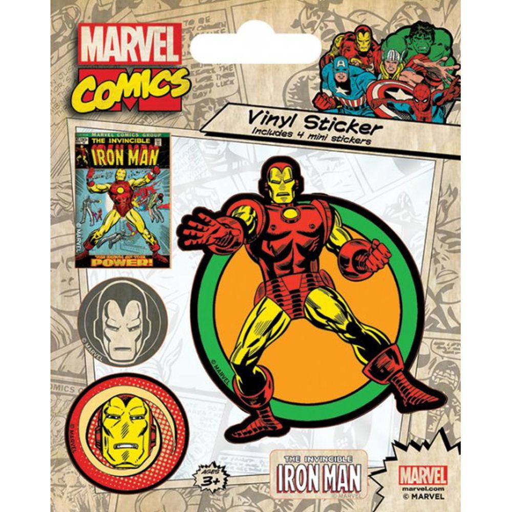Iron man 5 piece self adhesive vinyl sticker set car bike avengers stark film