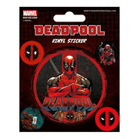 Deadpool Sheet of 5 Vinyl Stickers
