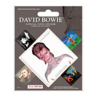 David Bowie Album Covers Sheet of 5 Vinyl Stickers Thumbnail 1
