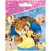 Disney's Beauty & The Beast Sheet of Vinyl Stickers