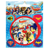 DC Super Hero Girls Unite Sheet of Vinyl Stickers