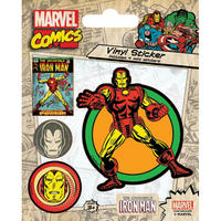 Iron Man Sheet of 5 Vinyl Stickers