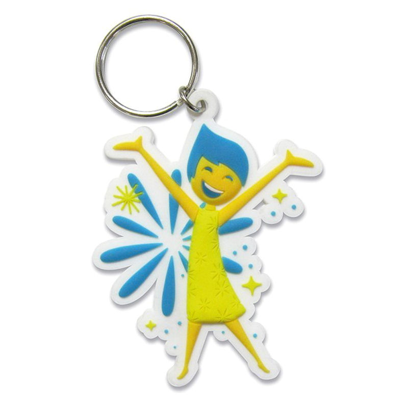 Inside Out Joy Rubber Keyring