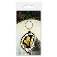 Alice Through The Looking Glass Clock PVC Keyring