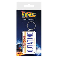 "Back To The Future ""Outatime"" License Plate PVC Keyring."