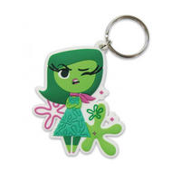 Inside Out Disgust Rubber Keyring