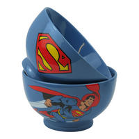 Superman Zoom & Logo Stoneware Bowl