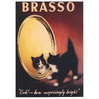 "Brasso ""Ooh! How Surprisingly Bright!"" Postcard"