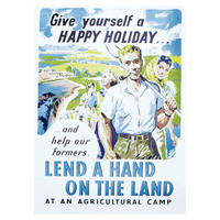 Give Yourself A Happy Holiday And Help Our Farmers - Lend A Hand On The Land Postcard