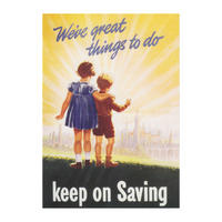 "Keep On Saving ""We've Great Things To Do"" Postcard"