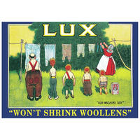 "Lux ""Won't Shrink Woollens"" Postcard"