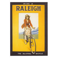 Ride A Raleigh The All-Steel Bicycle Postcard