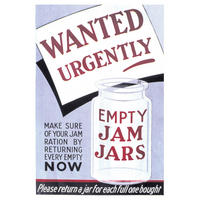 Wanted Urgently Empty Jam Jars Postcard