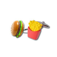 Burger And Fries Cufflinks Thumbnail 1