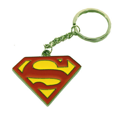 Superman Logo Metal Keyring
