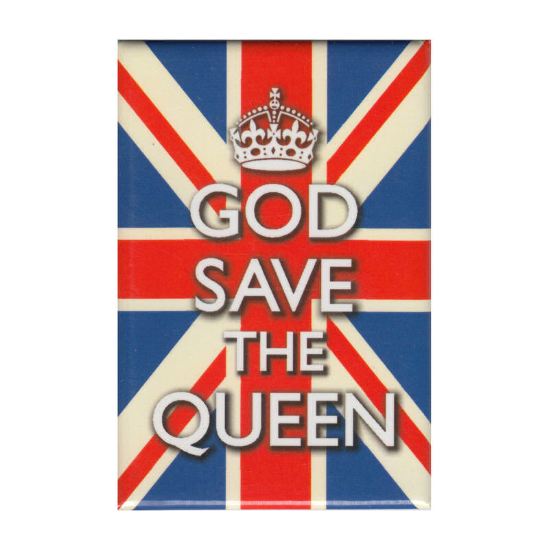 God Save The Queen Fridge Magnet