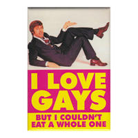 I Love Gays But I Couldn't Eat A Whole One Fridge Magnet