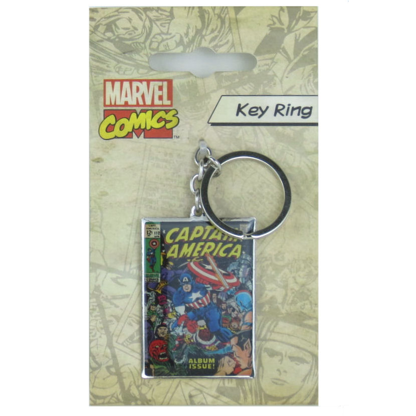 Captain America Comic Cover Metal Keyring