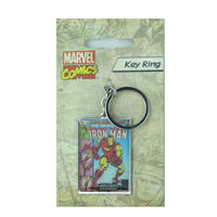 Iron Man Comic Cover Metal Keyring