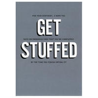 GET STUFFED Greeting Card