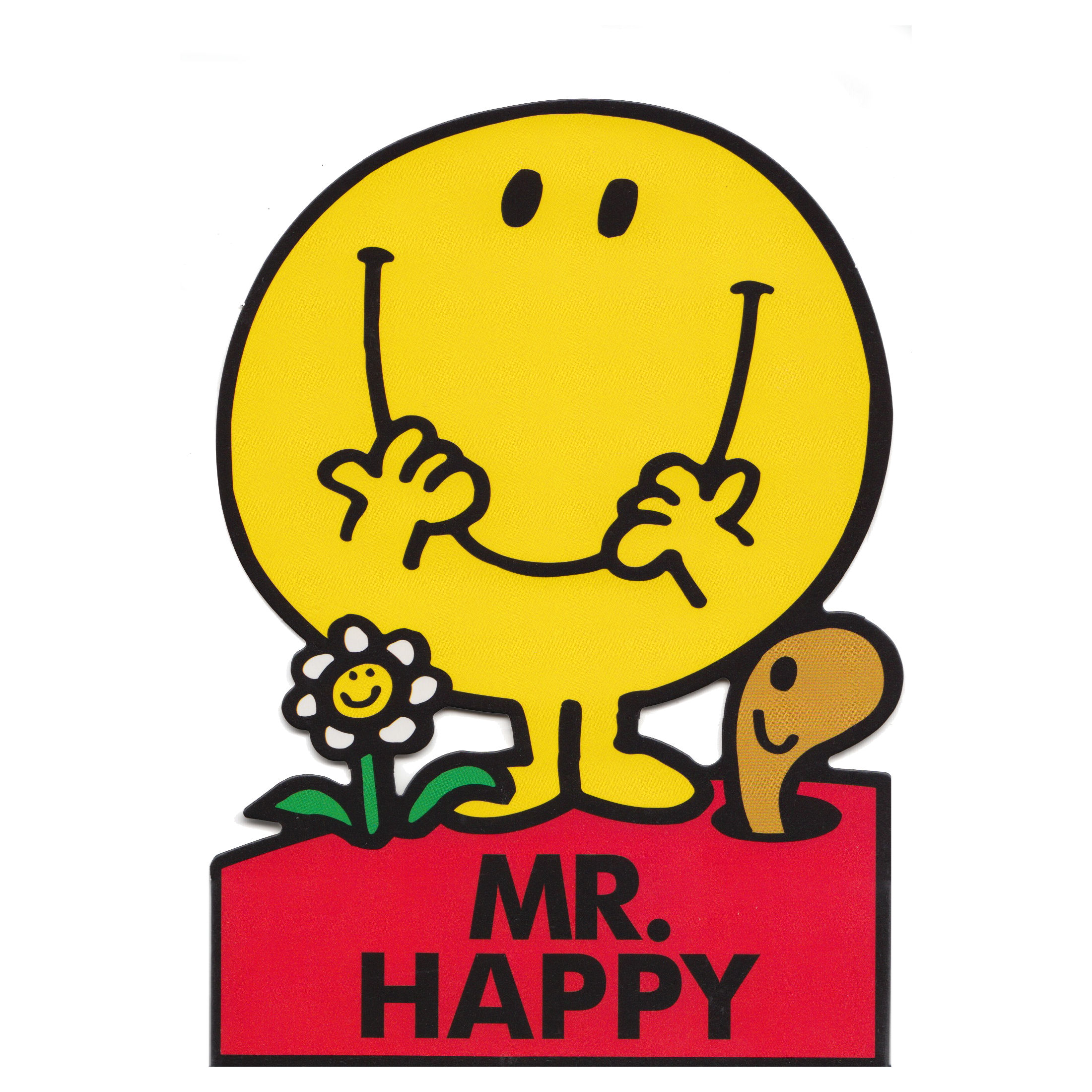 MR HAPPY SHAPED GREETING CARD MR MEN LITTLE MISS