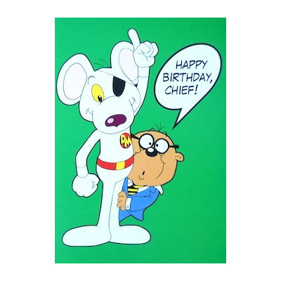 Danger Mouse & Penfold Happy Birthday, Chief! Greeting Card