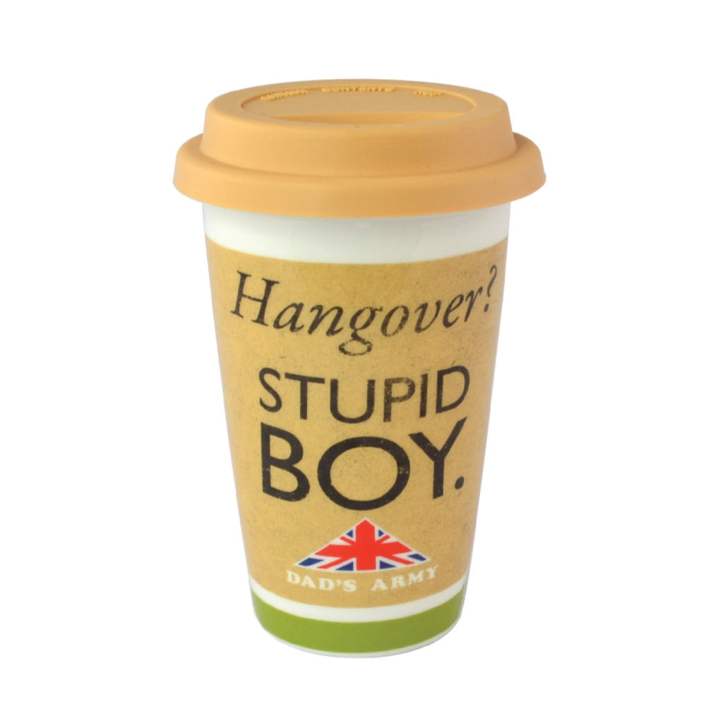 Dad's Army Stupid Boy Ceramic Travel Mug