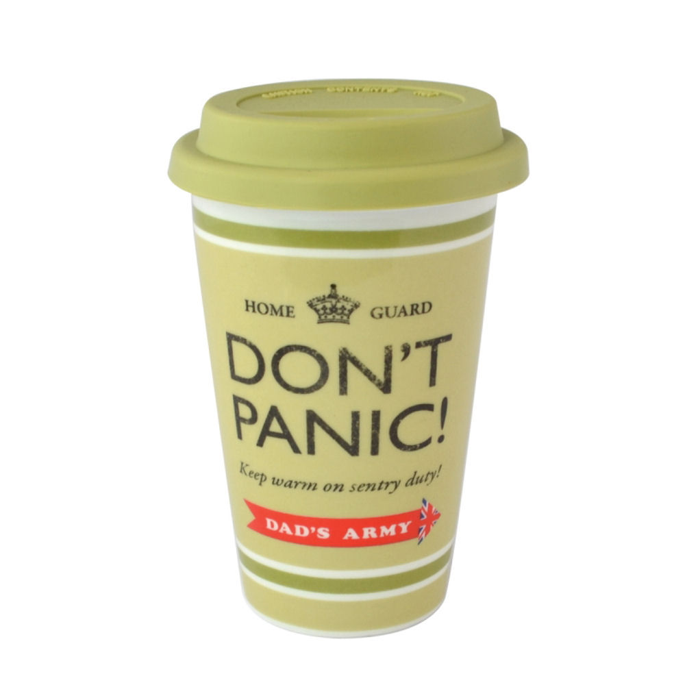 Dad's Army Don?t Panic Ceramic Travel Mug