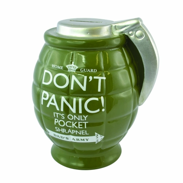 Dad's Army Don't Panic Ceramic Grenade Pot Of Dreams Money Box