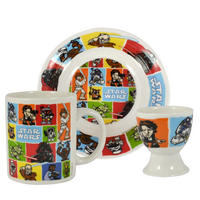 Star Wars Cartoon Icons 3 Piece Breakfast Set
