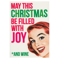 May This Christmas Be Filled With Joy And Wine Greeting Card