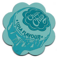 Chupa Chups Blue PVC Shaped Coaster