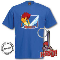 Thundercats Lion O T-Shirt & Keyring Gift Set
