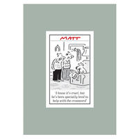Matt Pritchett Crossword Dog Tea Towel