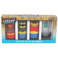 Justice League America Set of 4 Glasses