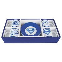 Superman Collection Set of 4 Espresso Cups & Saucers Thumbnail 1