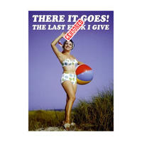 There It Goes! The Last F*** I Give Greeting Card