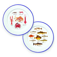Set Of 2 Ecologie Sea Life Enamel Plates Thumbnail 1