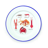 Set Of 2 Ecologie Sea Life Enamel Plates Thumbnail 2