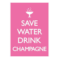 Save Water Drink Champagne Postcard