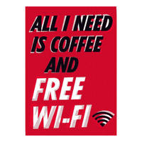 All I Need Is Coffee And Free Wifi Postcard