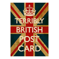 Terribly British Union Jack Postcard
