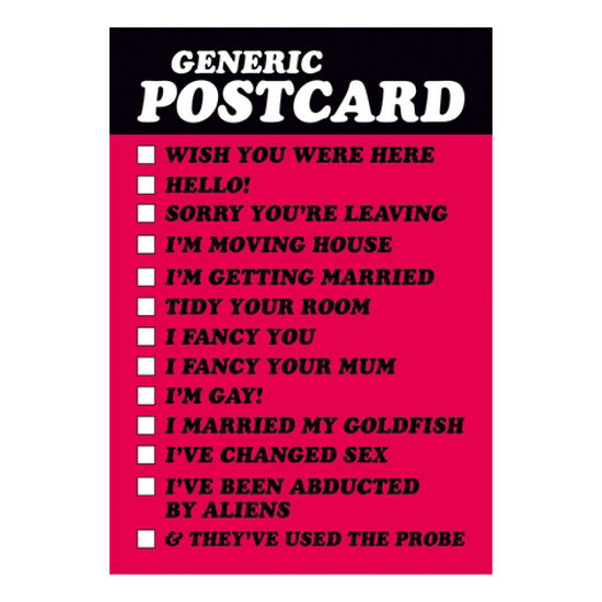 Generic Postcard Tick The Message Retro Funny Birthday Greeting Gift